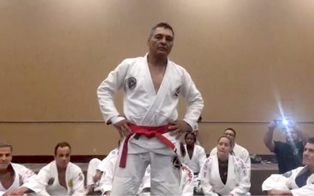 WATCH: Rickson Gracie Promoted to Red Belt