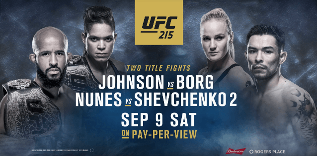 UFC 215 Demetrious Johnson vs. Ray Borg Canceled