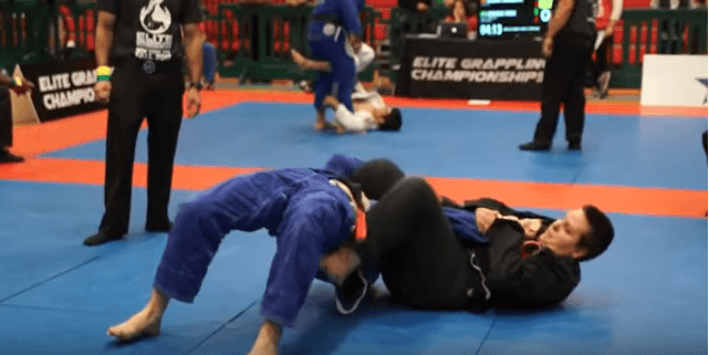 White Belt Taps Black Belt in BJJ Tournament