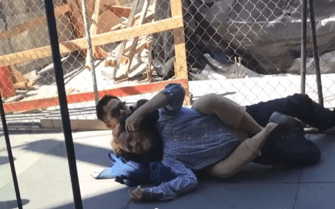 BJJ Brown Belt Defends Himself on the Street from Attacker